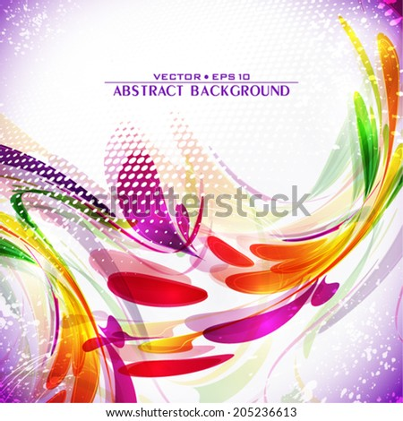 Abstract artistic invitation for bright party. Vector