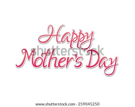 abstract artistic mothers day background vector illustration - stock vector