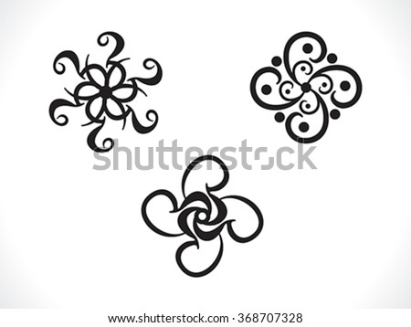 abstract artistic multiple floral shape vector illustration - stock vector