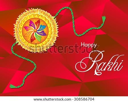 abstract artistic raksha bandhan background vector illustration - stock vector