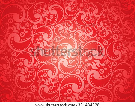 abstract artistic red floral pattern background vector illustration