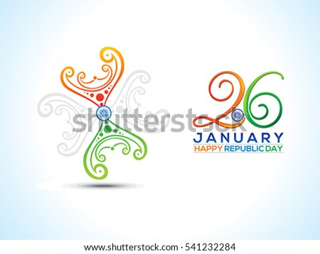 abstract artistic republic day floral vector illustration