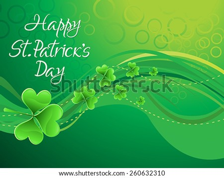 abstract artistic st patrick background vector illustration - stock vector