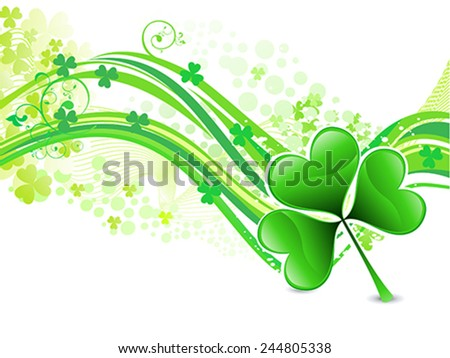 abstract artistic st patrick wave background vector illustration - stock vector