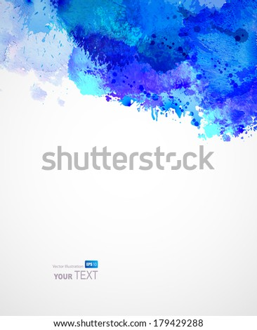Abstract artistic watercolor blots  - stock vector