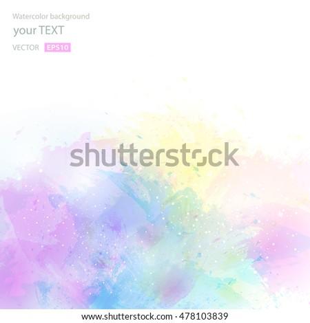 Abstract artistic watercolor splash background vector stock vector abstract artistic watercolor splash background vector illustration texture for print wallpaper invitation stopboris Images