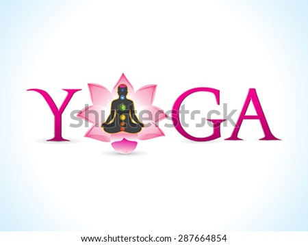 abstract artistic yoga text vector illustration - stock vector