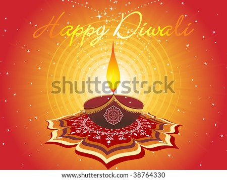 abstract artwork pattern background for diwali - stock vector
