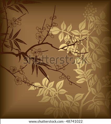 Abstract Asia Floral Background 4