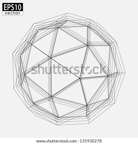 Abstract Atom Design | EPS10 Vector - stock vector