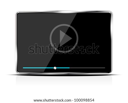 Abstract audio/video player/device - stock vector