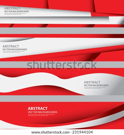 Abstract Austrian Flag Background Collection, Austria colors, Info Graphic Templates, Modern and Contemporary Style (Vector Art) - stock vector