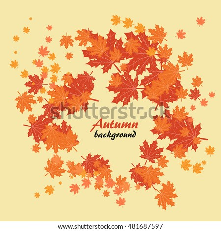 Abstract autumn background with landscape
