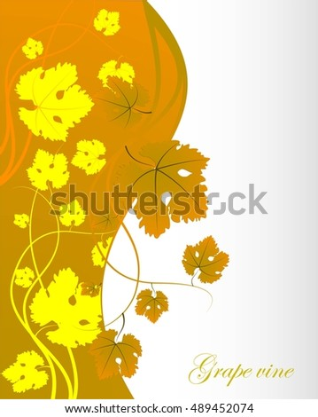 Abstract autumn background with text