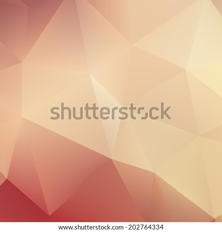 Abstract Autumn geometric shapes triangle. plus EPS10 vector file - stock vector