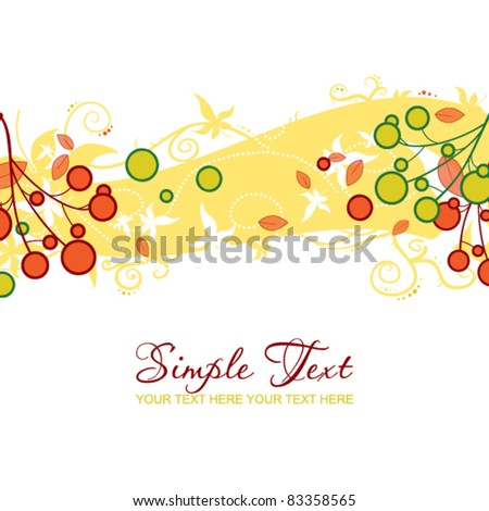 Abstract autumn illustration. Place for your text. Vector.