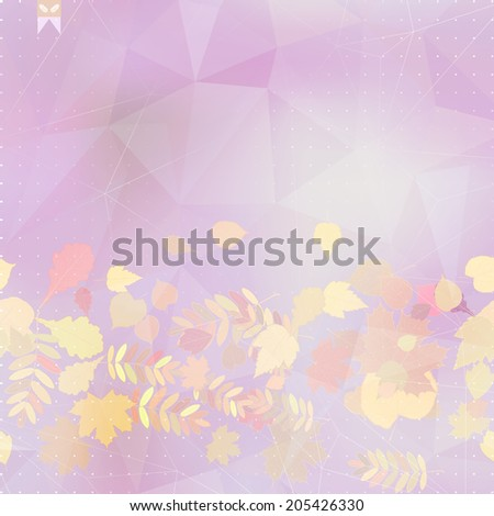 Abstract autumn illustration with maple Leaves. EPS10 - stock vector