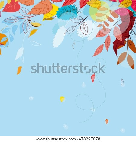 Abstract autumn  leaf background. Banner.