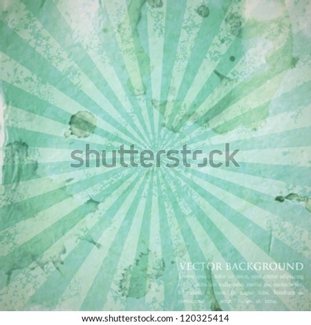 abstract azure background with grunge cardboard texture - stock vector