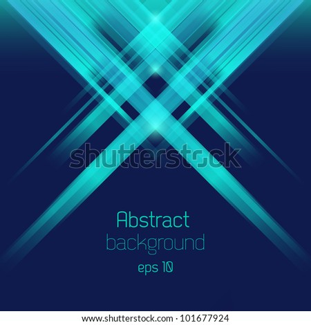 Abstract bacground with rays - stock vector