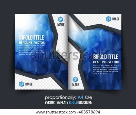Abstract Background and Business Bi-Fold Brochure Design. Corporate Leaflet, Cover Template - stock vector