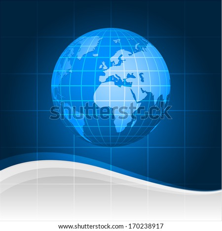 Abstract background and globe