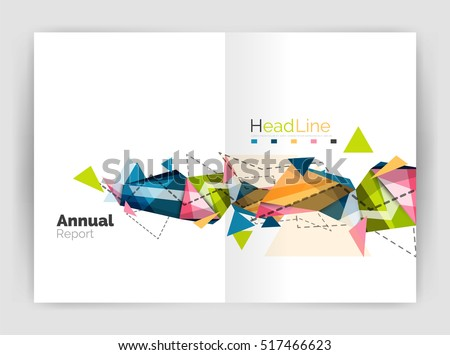 Abstract Background Annual Report Template Geometric Vector – Business Annual Report Template