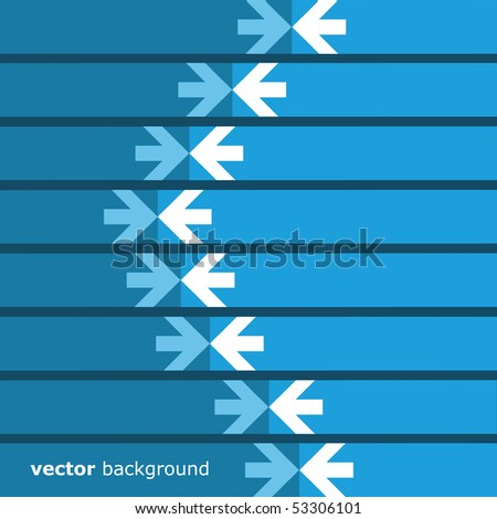 Abstract Background: Arrows - stock vector