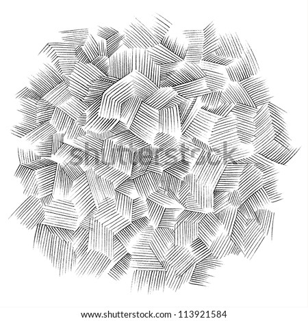 Abstract background as drawn in pencil. - stock vector