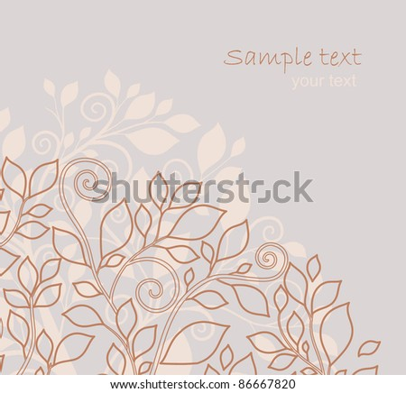 abstract background autumn tree with leaves