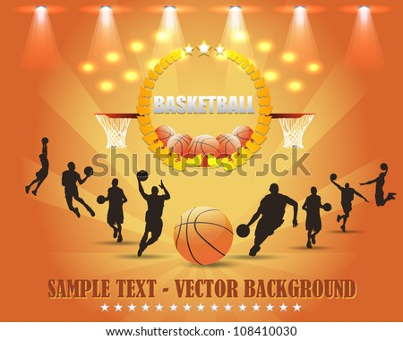 Abstract Background Basketball Vector Design - stock vector