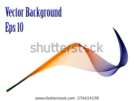 Abstract background beautiful blue and red wave  - stock vector