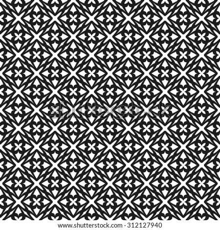 Abstract background - black and white pattern seamless