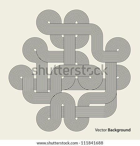 Abstract background. Black intricacy. Vector illustration - stock vector