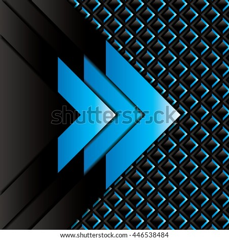 Abstract background, blue carbon brochure, vector - stock vector