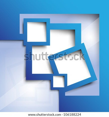 abstract background blue color for your text - stock vector