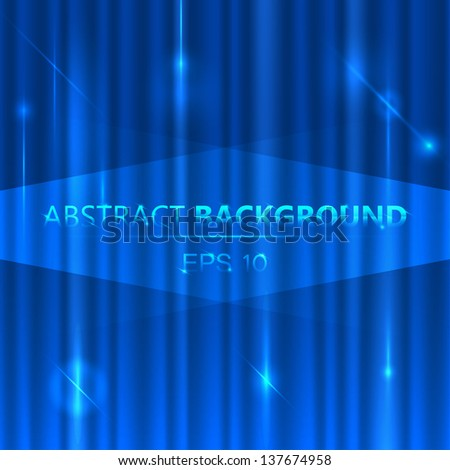 abstract background blue, imitation curtain - stock vector