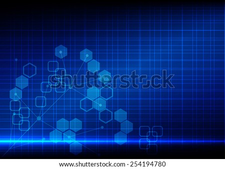 Abstract  background blue light technology