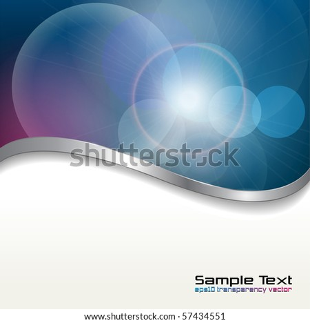 Abstract background  blue lights. Vector illustration. - stock vector