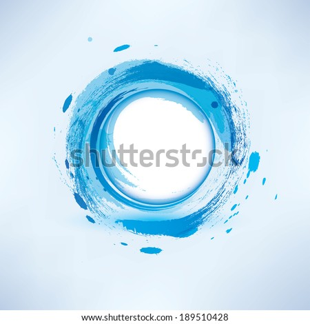 abstract background  blue water circle - stock vector