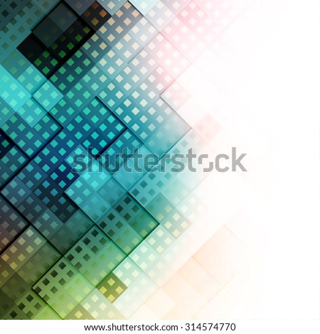 Abstract Background. Blurred Image and pixel elements. Blank place for a text. - stock vector