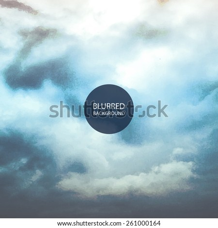 Abstract Background - Blurred Image - Clouds on the Sky - stock vector