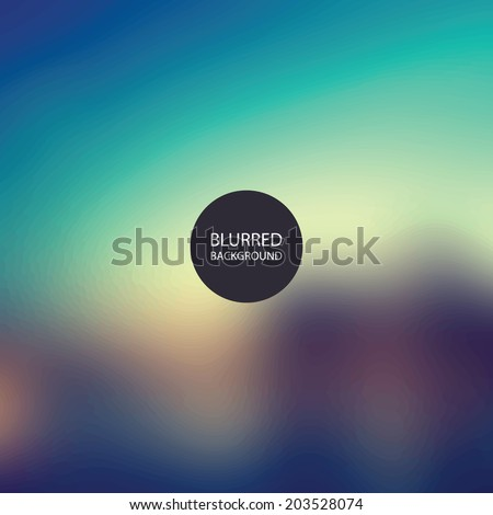 Abstract Background - Blurred Image - Sunset - stock vector