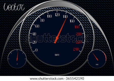 Abstract Background. Car Speedometer. Vector Illustration - stock vector