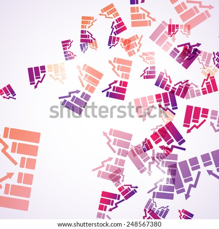 abstract background: chart - stock vector