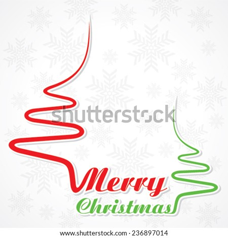 Abstract background Christmas tree with text - vector illustration - stock vector