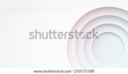 Abstract background. Circle cutouts - stock vector