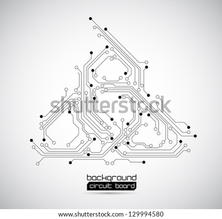 abstract background circuit board - vector - stock vector