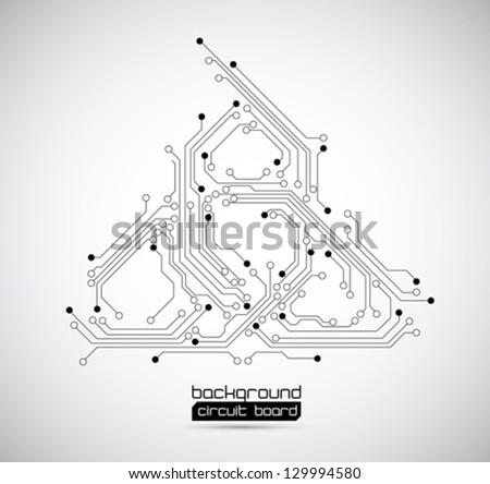 abstract background circuit board - vector - stock vector