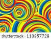 abstract background color stripes circle - stock photo